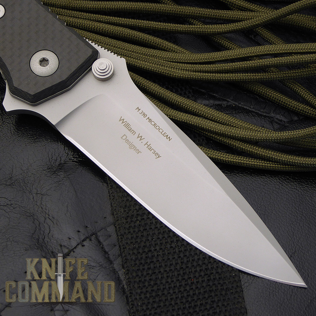 Fantoni HB 01 William Harsey Carbon Fiber Combat Folder Tactical Knife.  M 390 Microclean steel.