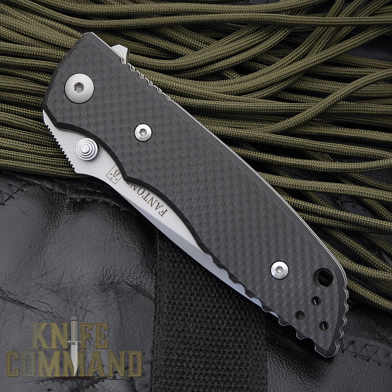 Fantoni HB 01 William Harsey Carbon Fiber Combat Folder Tactical Knife.  Top of the line.