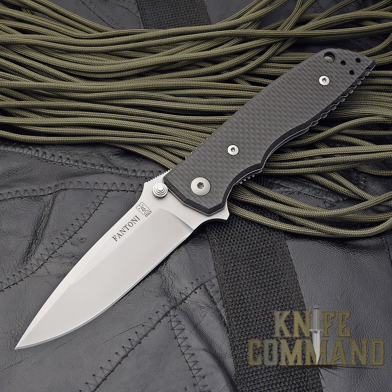 Fantoni HB 01 William Harsey Carbon Fiber Combat Folder Tactical Knife.  Carbon Fiber Edition.