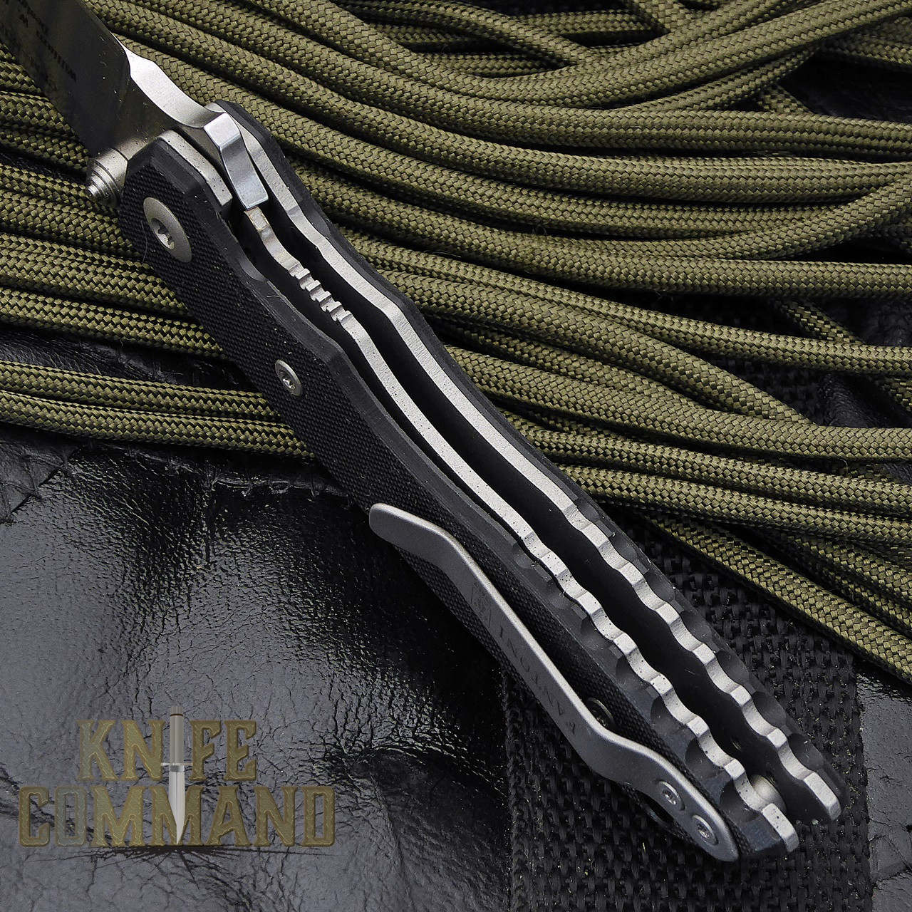 Fantoni HB 02 Black William Harsey Combat Folder Tactical Knife.  Titanium liner lock.