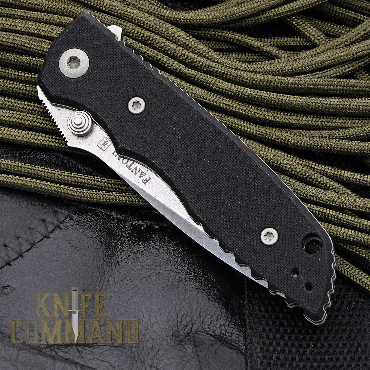 Fantoni HB 02 Black William Harsey Combat Folder Tactical Knife.  Pocket sized.