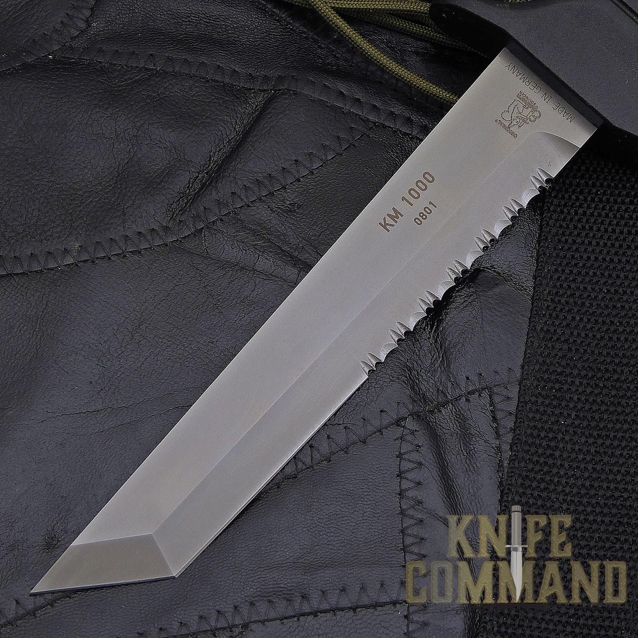 Eickhorn Solingen KM 1000 Combat Knife.  Non-glare finish on blade.