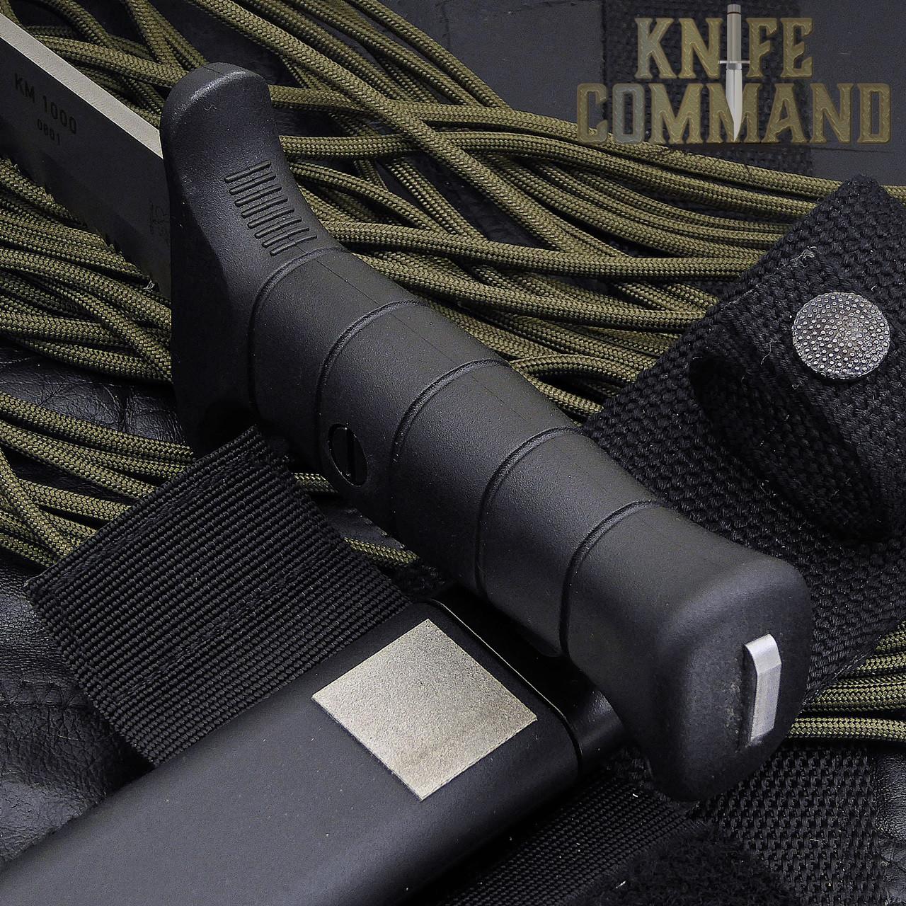 Eickhorn Solingen KM 1000 Combat Knife.  Tang through handle and sharpener on sheath.