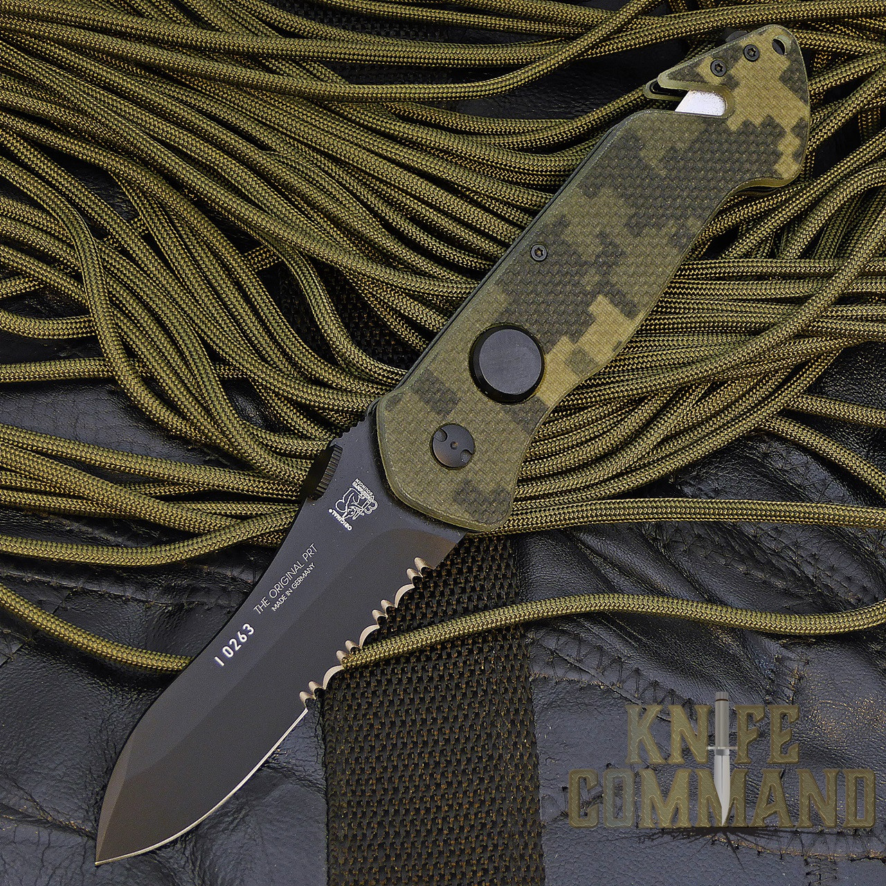 Eickhorn Solingen PRT X Digicam G10 Spearpoint Tactical Emergency Rescue Knife.  PRT-VIII now in Digicam.
