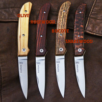 Fantoni Dweller knives.  Slipjoint folders legal almost everywhere.  Various handle materials available.