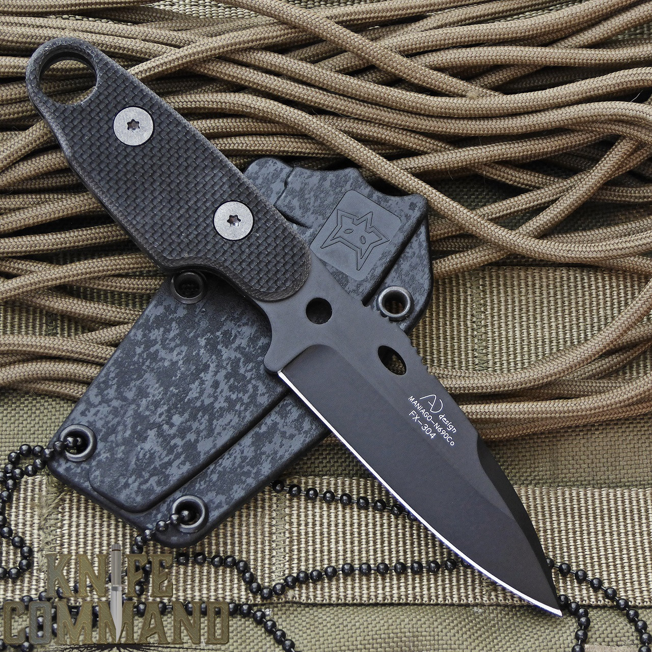 Fox Knives Compso Tactical Neck Knife.  Designed by Alfredo Doricchi.