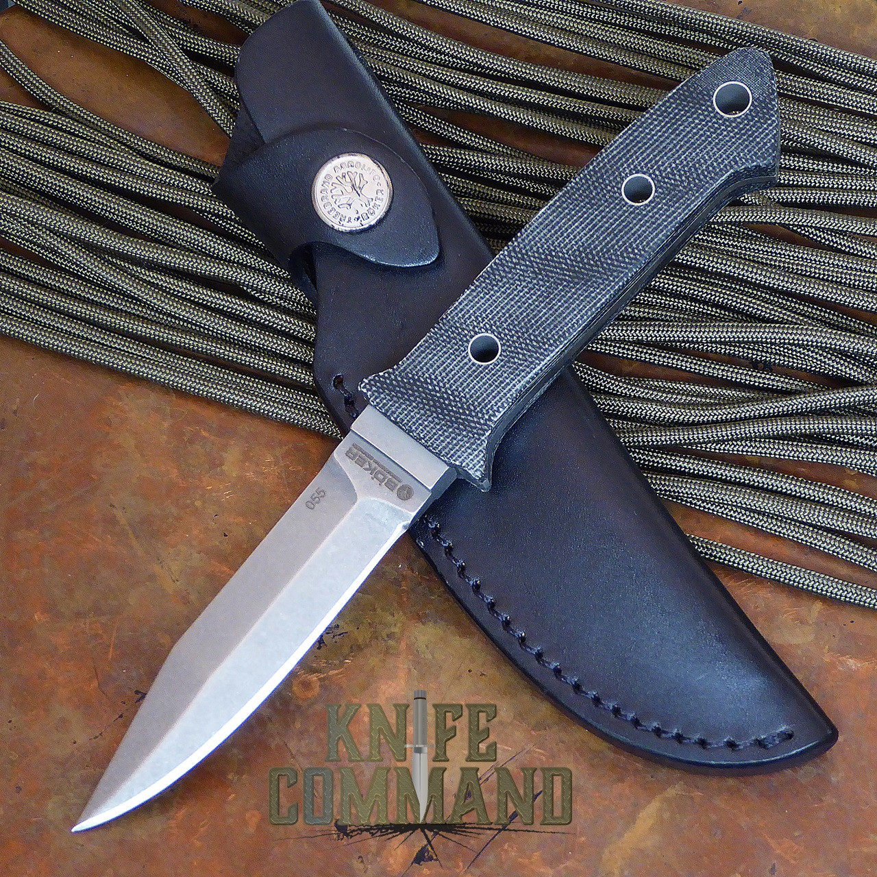 Boker Integrance Micarta Fixed Blade Knife.   Dietmar Kressler design.