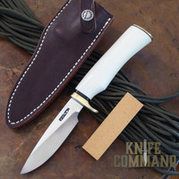 Randall Made Knives Model 26 Pathfinder Ivorite Custom Knife.  Cover sheath and hone.