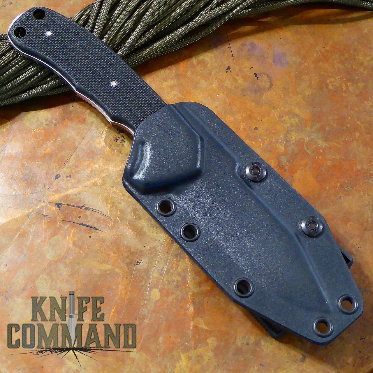 Emerson Police Utility Knife SF Fixed Blade.  Kydex sheath with Blade Tech Tek Lok adapter.