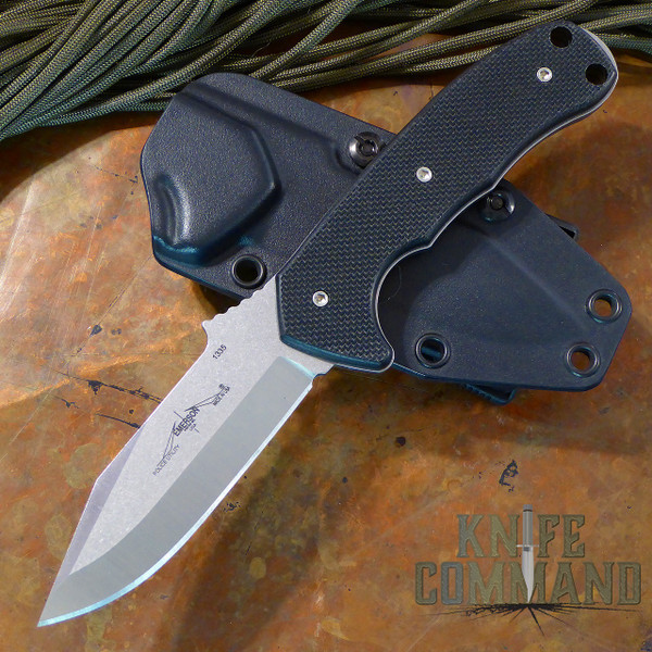 Emerson Police Utility Knife SF Fixed Blade.  Stonewash finish 154CM stainless steel.