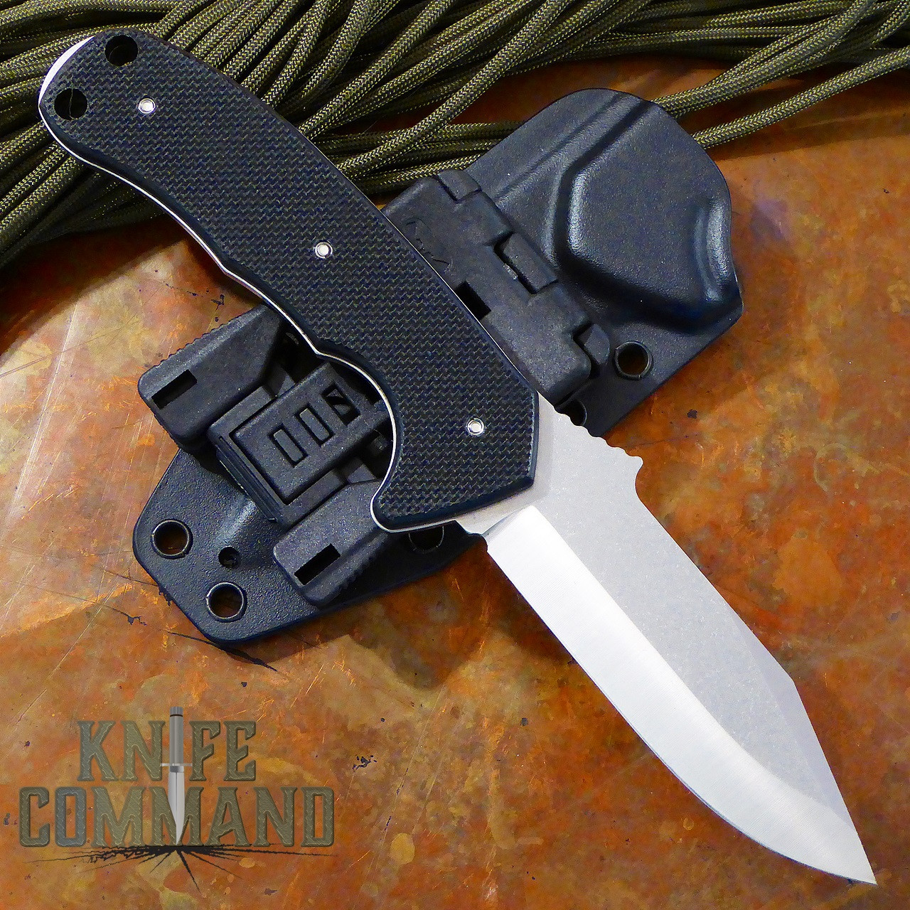 Emerson Police Utility Knife SF Fixed Blade.  Full tang with G10 handles.