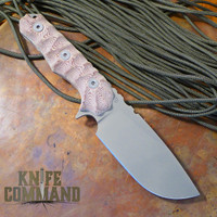 Wander Tactical Lynx Survival Knife Fire Micarta Dark Earth Gunkote.  Heavy duty medium sized knife.
