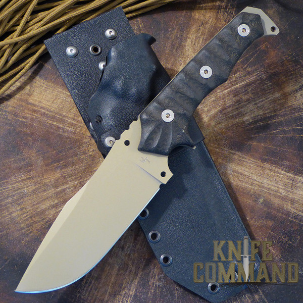Wander Tactical Haast Eagle Survival Knife Black Micarta Dark Earth Gunkote.  Hunting, survival, military applications.