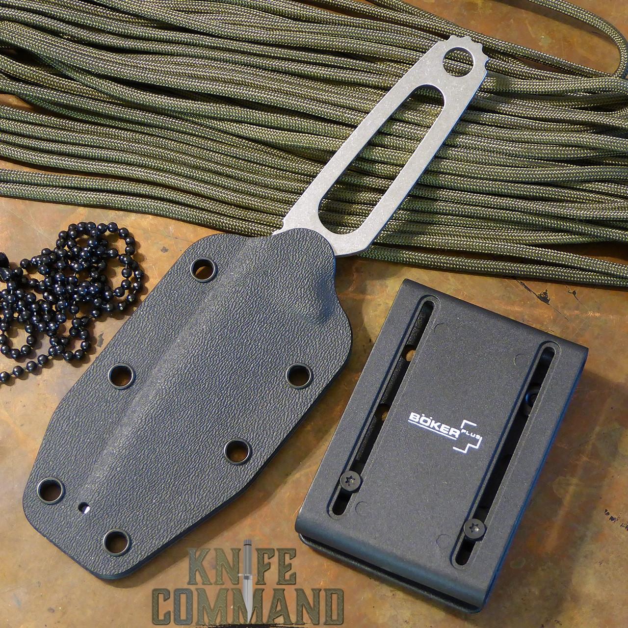 Boker Para-1 Tony Lennartz Neck/Boot/Belt Knife 120651.  Multiple carry options.