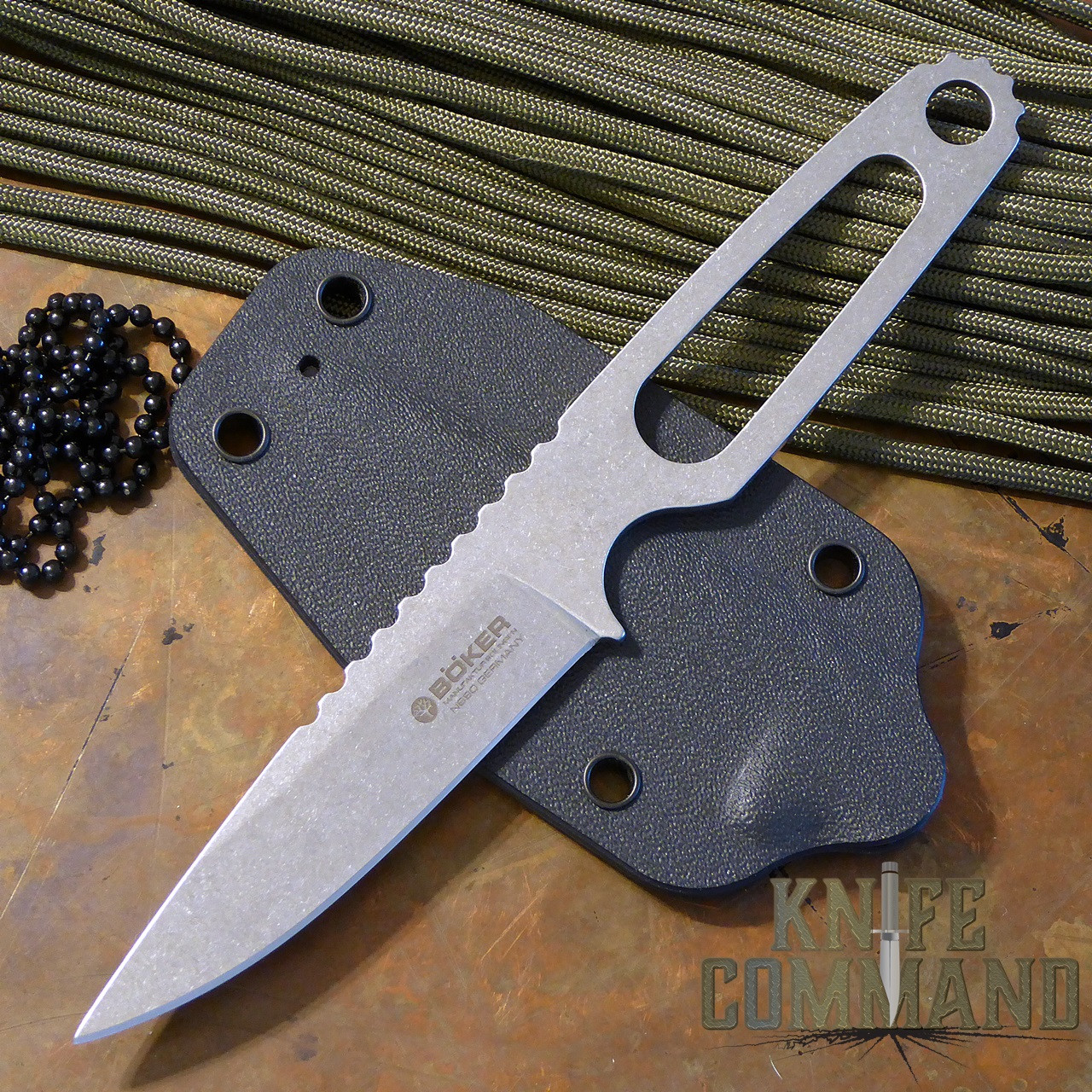 Boker Para-1 Tony Lennartz Neck/Boot/Belt Knife 120651.  Bohler N690 stainless steel.