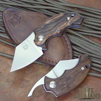 Fox Knives Bastinelli BB Drago Piemontes Dragotac Ziricote Wood Baby Friction Folder.  Higonokami style.