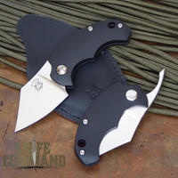 Fox Knives Bastinelli BB Drago Piemontes Dragotac Black FRN Baby Friction Folder.  Higonokami style.