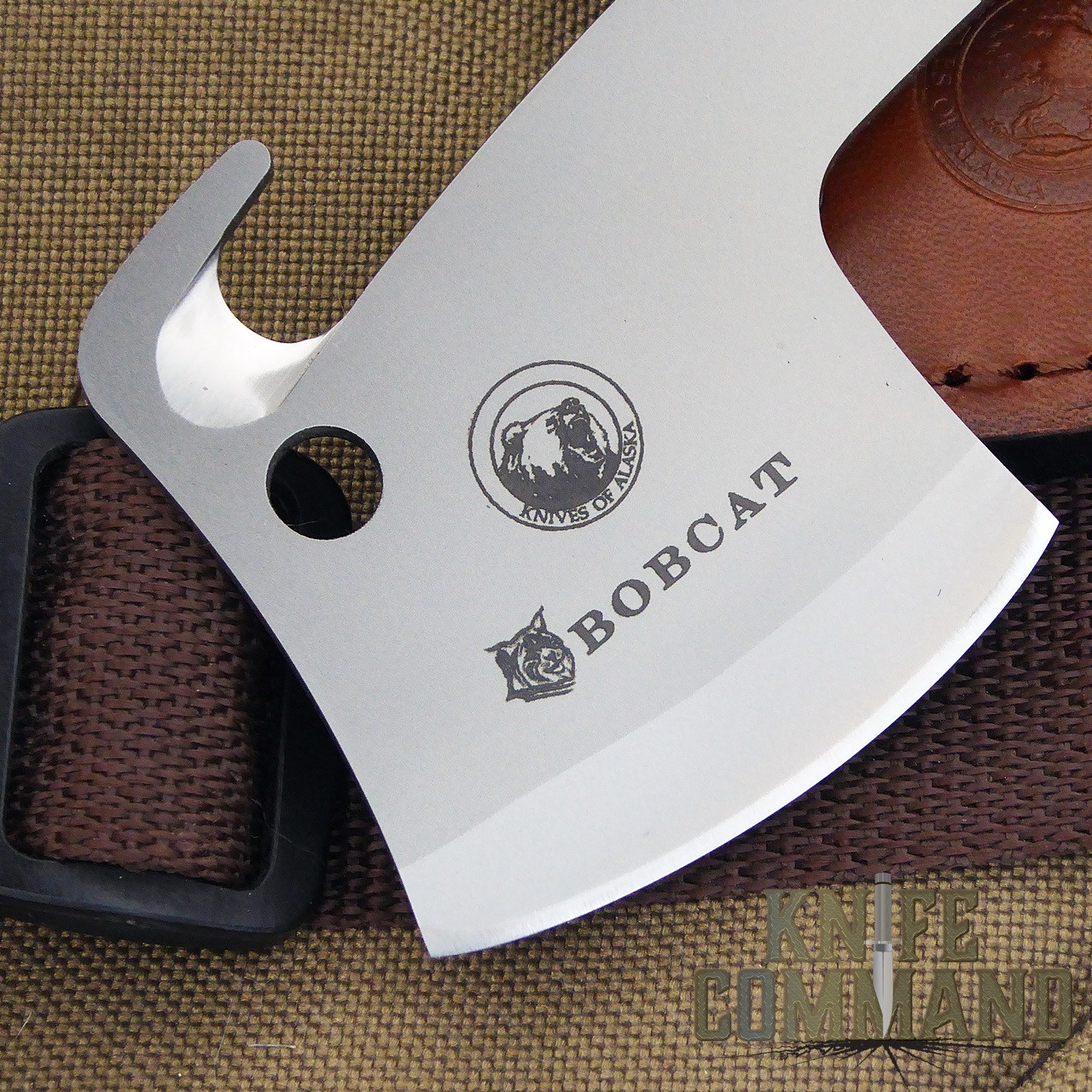 Knives of Alaska Bobcat Mini Hatchet 00960FG.  D2 steel.