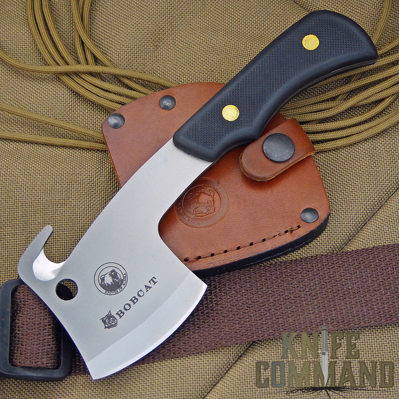 Knives of Alaska Bobcat Mini Hatchet 00960FG.  A super versatile tool.