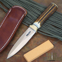 Randall Made Knives Model 24 Guardian Stag Brass Boot Knife.   Concealed carry...no, show this one off!  Nice stag handle.