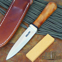 Randall Made Knives Model 24 Guardian Thuya Burl Boot Knife.  Classy concealed carry.