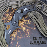Blade Tech Riptide Karambit Black G10 Folding Knife.  Mike Vellekamp design with Emerson Wave.