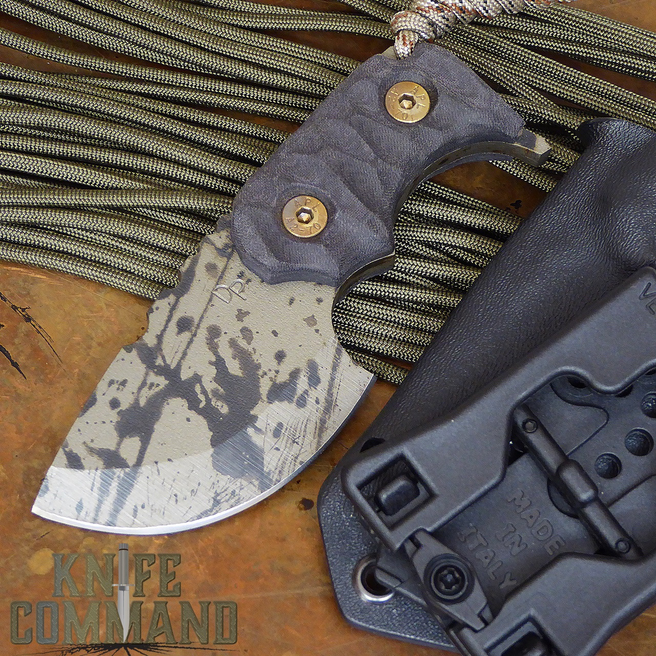 Wander Tactical Tricertops Knife Pitch Black Micarta Black Blood Gunkote.  A great knife for every day carry.