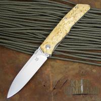 Fox Knives Bob Terzuola Birch Handle Pocket Knife.  Terzuola design.