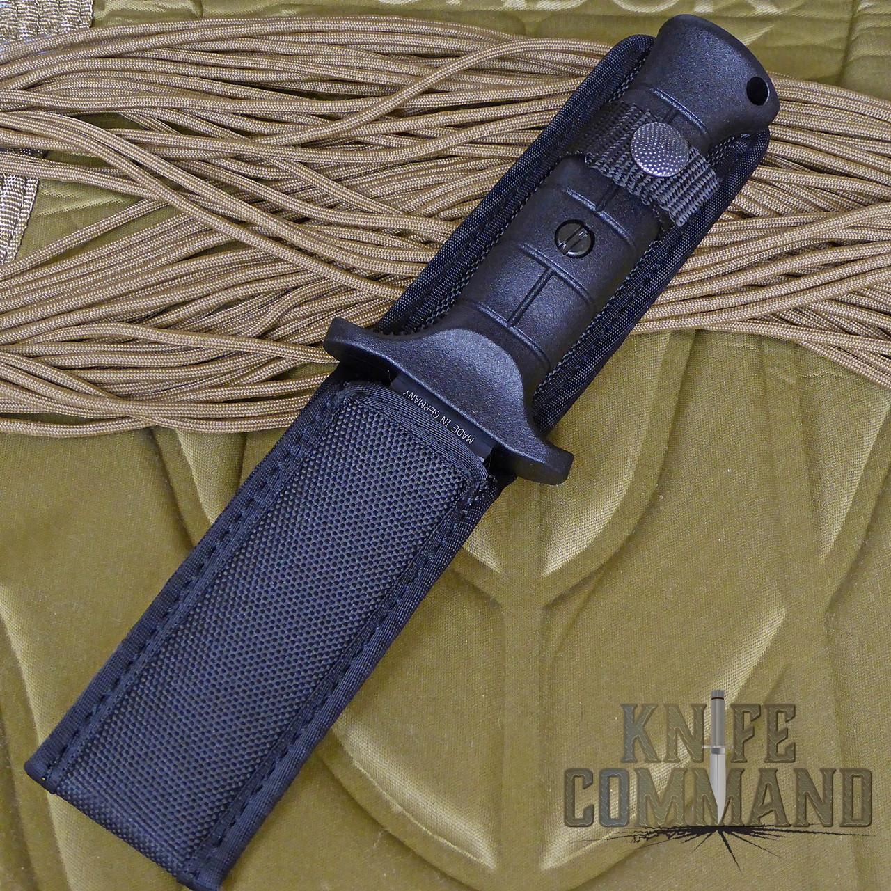 Eickhorn Solingen UK 2000 Lightweight Utility Combat Knife.  Molle compatible Cordura sheath.