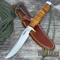 "Randall Made Knives Model 7 Fisherman Hunter 5"" SS Knife.  Single finger grip handle."