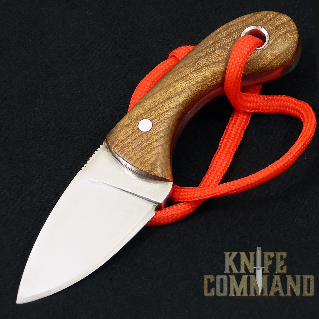 "Smyth Knives Irish Elm ""Pocket"" Knife.  Comes with sheath and lanyard."
