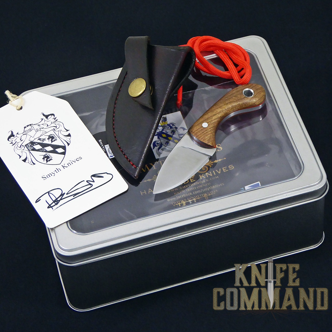 "Smyth Knives Irish Elm ""Pocket"" Knife.  Nice presentation box with certificate of authenticity."