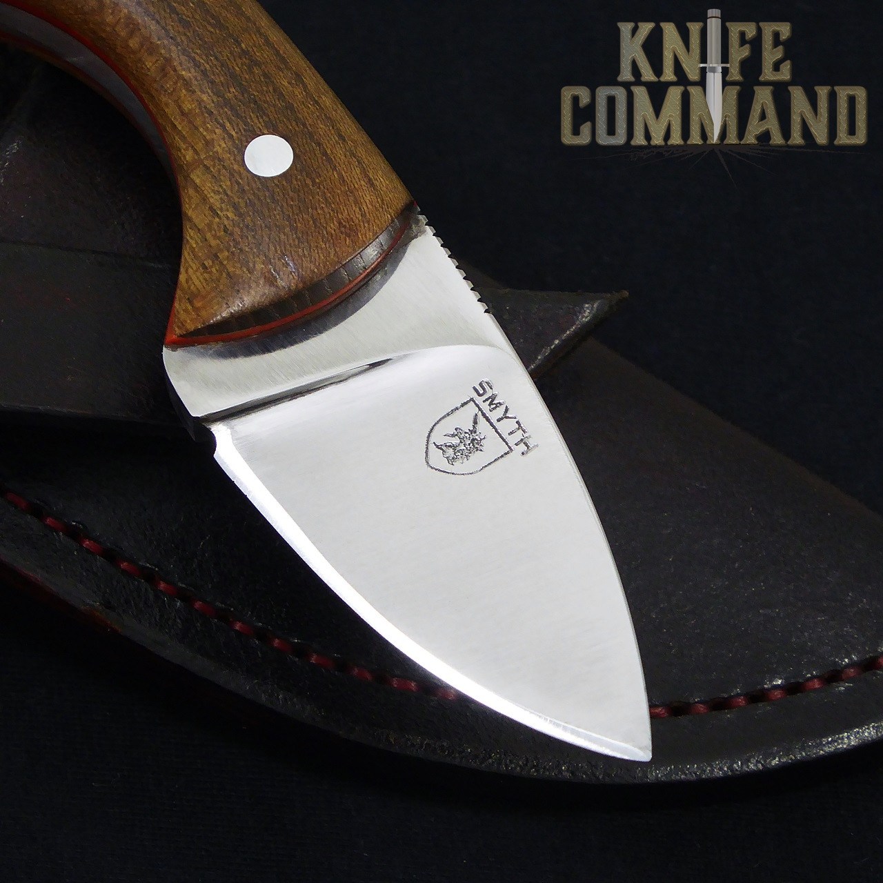 "Smyth Knives Irish Elm ""Pocket"" Knife.  Beautiful drop point blade."