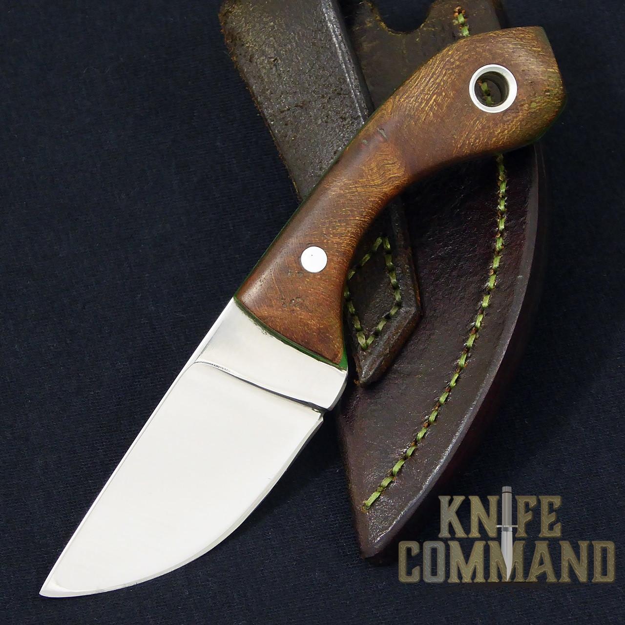 Paddy Smyth Knives Irish Elm Knife, The Leprechaun.  Comes with sheath and lanyard.