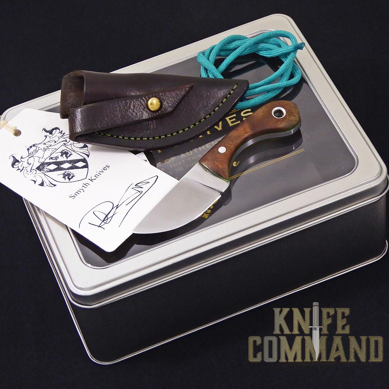 Paddy Smyth Knives Irish Elm Knife, The Leprechaun.  Nice presentation box with certificate of authenticity.