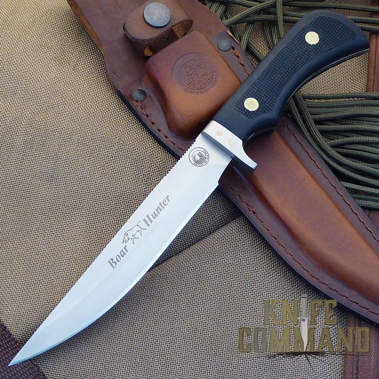 Knives of Alaska Boar Hunter Hunting Knife.  Long and lean.