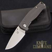 Fox Knives Vox Tur Folding Knife Carbon Fiber Satin Blade.  Elmax steel and Carbon Fiber.