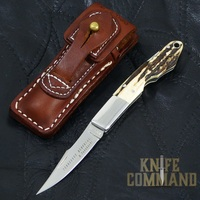 G Sakai Tennessee Memorial Takahashi Stag Pocket Knife S.  A beautiful bird and trout folder.