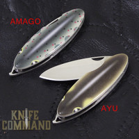 G Sakai Keychain Knife Fish of the Nagara River.  Slim design for keychain or pocket.  Framelock and VG-10 blade.
