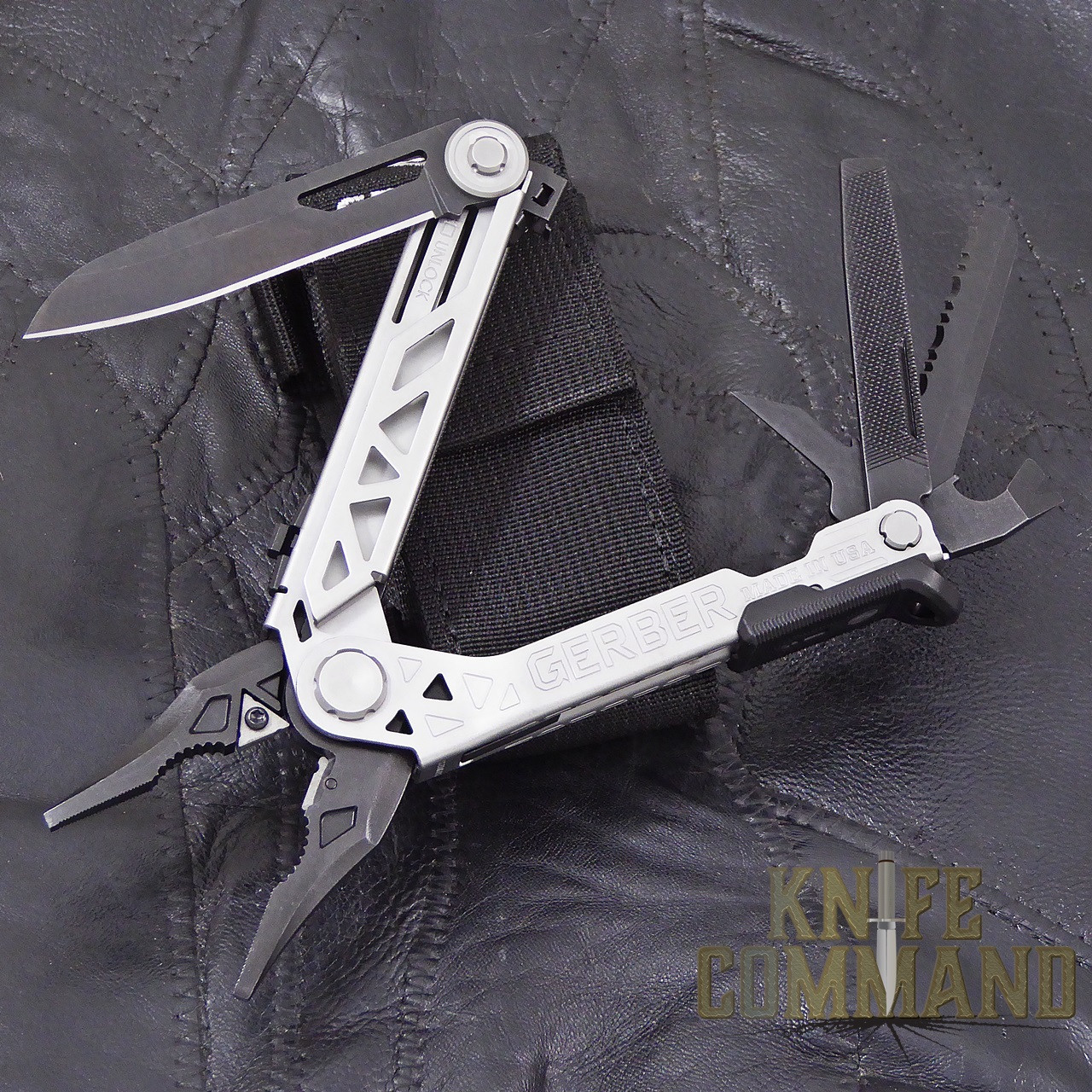 Gerber Center-Drive Multi-Tool Pliers with Sheath and Bit Set.  So many tools in one.