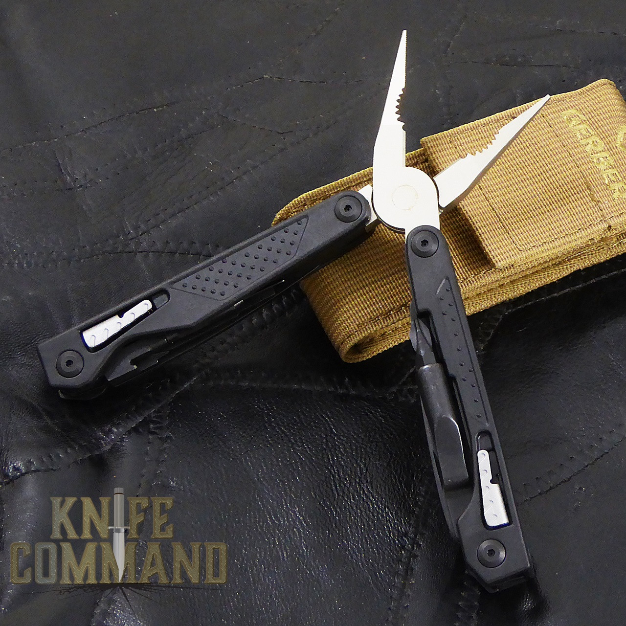 Gerber MP1-AR Weapons Multi-Tool Butterfly Opening Multi-Tool.  Spring loaded plier jaws made of forged steel, providing the ultimate in jaw strength.