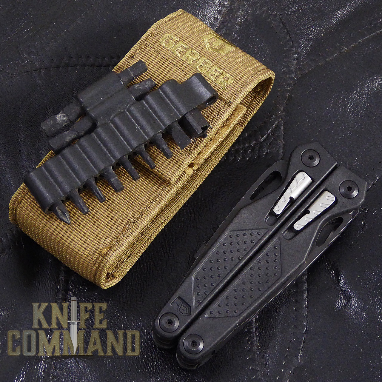 Gerber MP1-MRO Maintenance, Repair, & Operations Tool Butterfly Opening Multi-Tool.  Multi bit set and MOLLE compatible coyote nylon sheath.