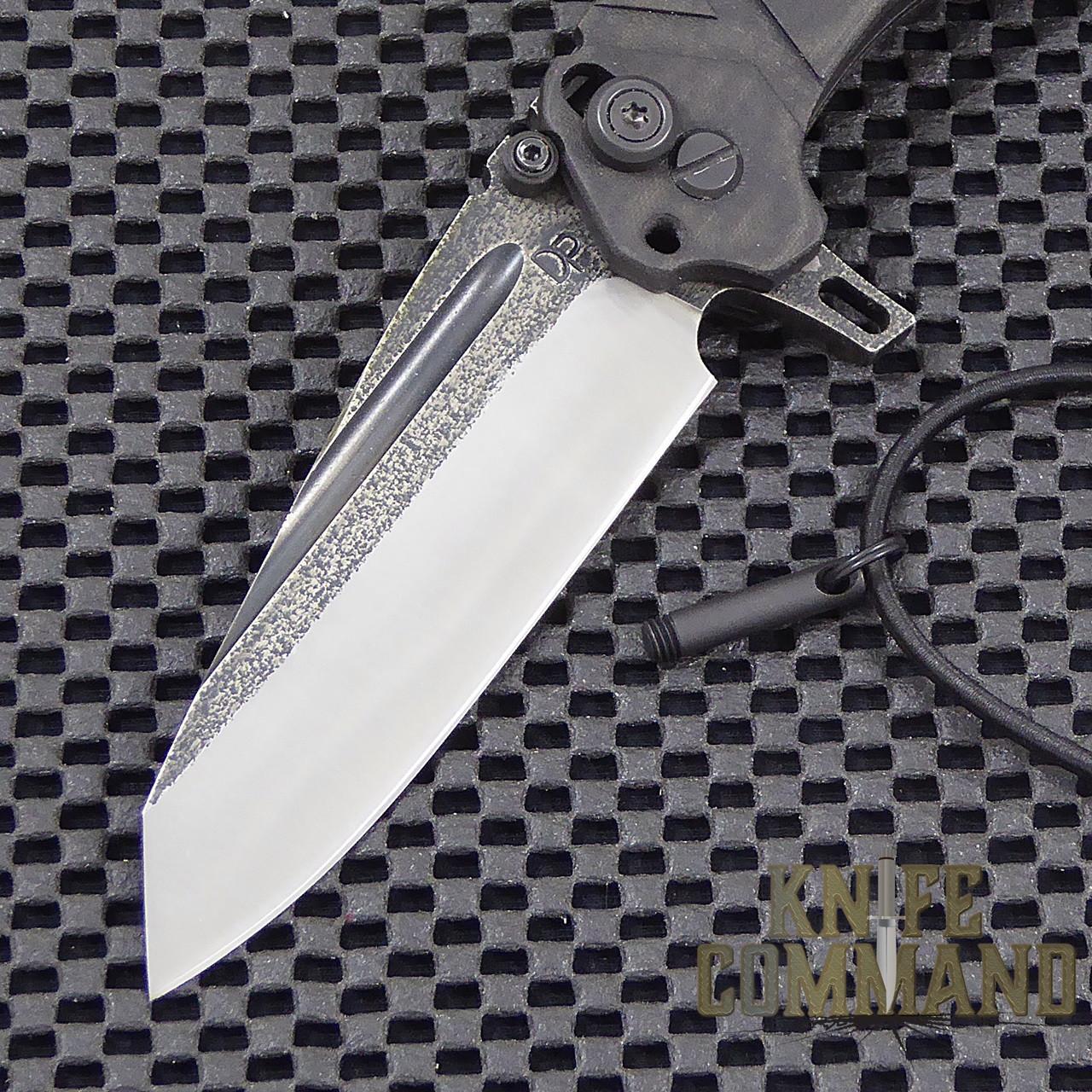 Wander Tactical Custom Sköll Wolf Extreme Duty Folding Knife.  Custom Two-Tone D2 blade with lock pin.