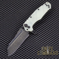 Wander Tactical Custom Mistral Extreme Duty Folding Knife.  Custom Jade Green G10 handles and Bi-Tone Gunkote blade.