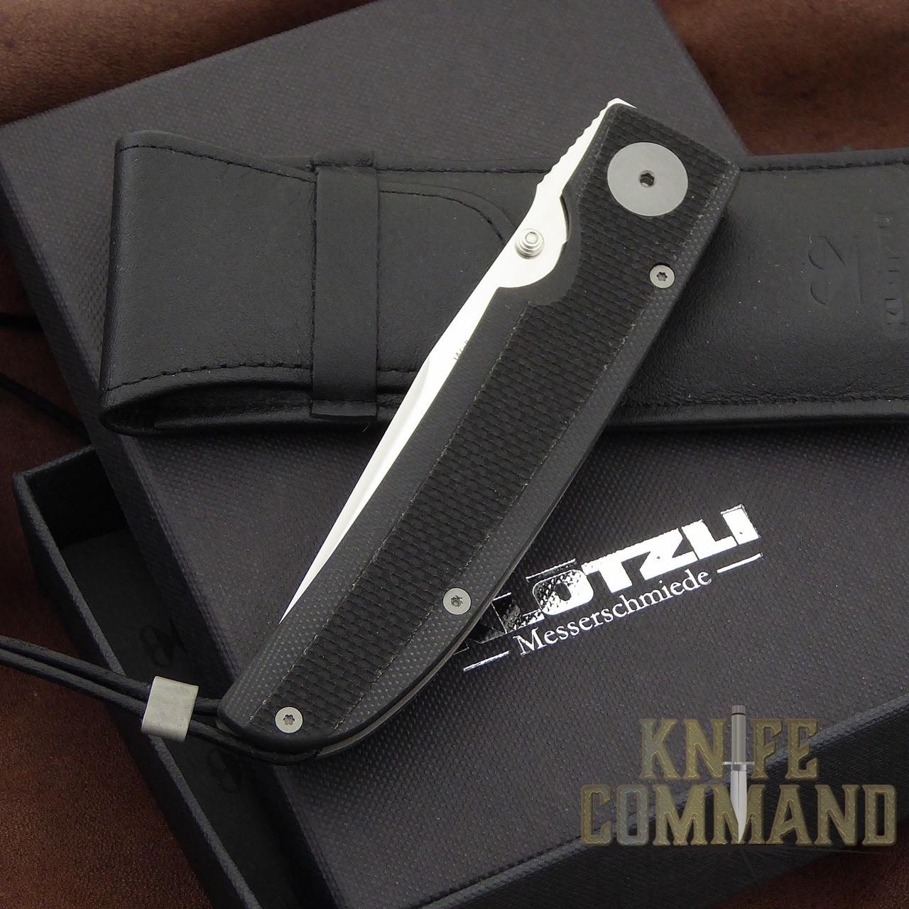 Klotzli Knives Michael Walker 03 Tactical Folding Knife Black WALK-03-TAC-C.  New in box with pouch.