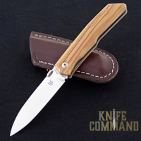 Fox Knives Bob Terzuola Olive Wood Handle Pocket Knife FX-525 OL.   A Bob Terzuola design.