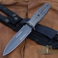 Boker Applegate-Fairbairn A-F 5.5 Black Harsey Combat Knife 121545.  Now in Tactical Black.