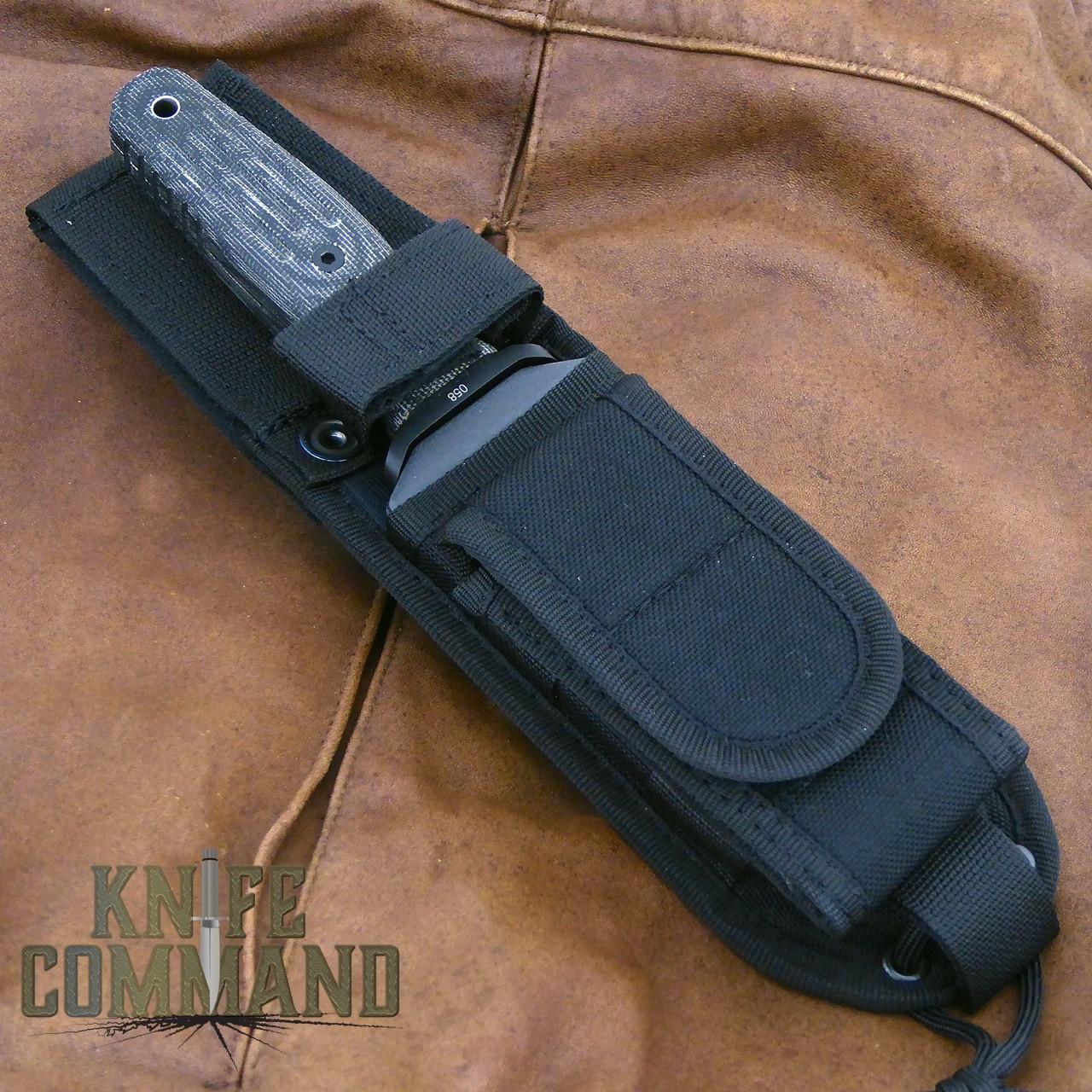 Boker Applegate-Fairbairn A-F 4.5 Black Harsey Combat Knife 121644.  Special Ops sheath.