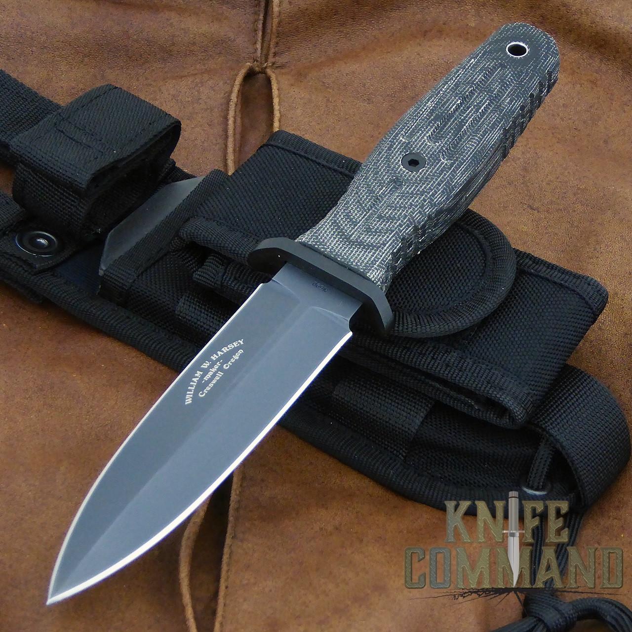 Boker Applegate-Fairbairn A-F 4.5 Black Harsey Combat Knife 121644.  Now in Tactical Black.