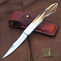 "G Sakai Tennessee Memorial Takahashi Stag Pocket Knife Large 10398.  Large, 9-1/4"" overall."